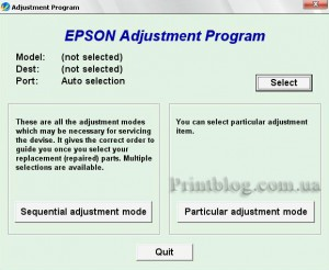 Adjustment program Epson Stylus CX7300