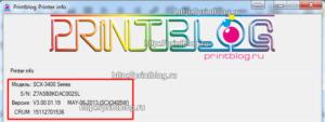 """Образец отчета из программы """"Printblog Printerinfo"""""""