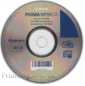 Установочный диск Canon Pixma MP190