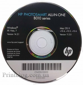 Insallation CD HP Photosmart All-in-One серии B010 series