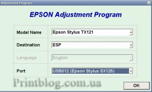 Бесплатный сброс памперса Epson Stylus SX125