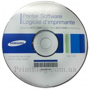 Оригинальный диск с драйверами Samsung scx-3400