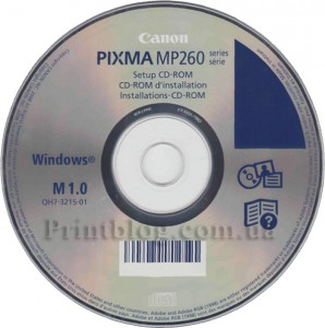 Установочный диск Canon Pixma MP260