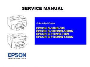 Service manual epson b300 b500