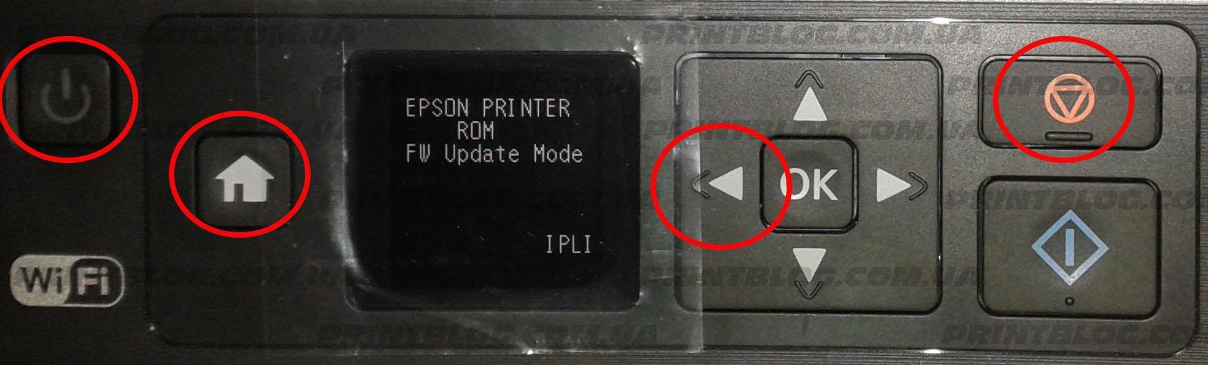 Прошивка Epson XP