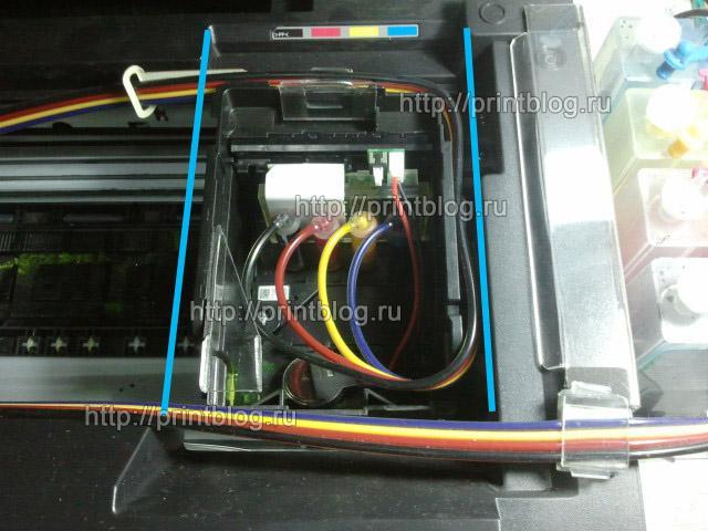 Инструкция по снятия печатающей головки Epson WorkForce WF-7515