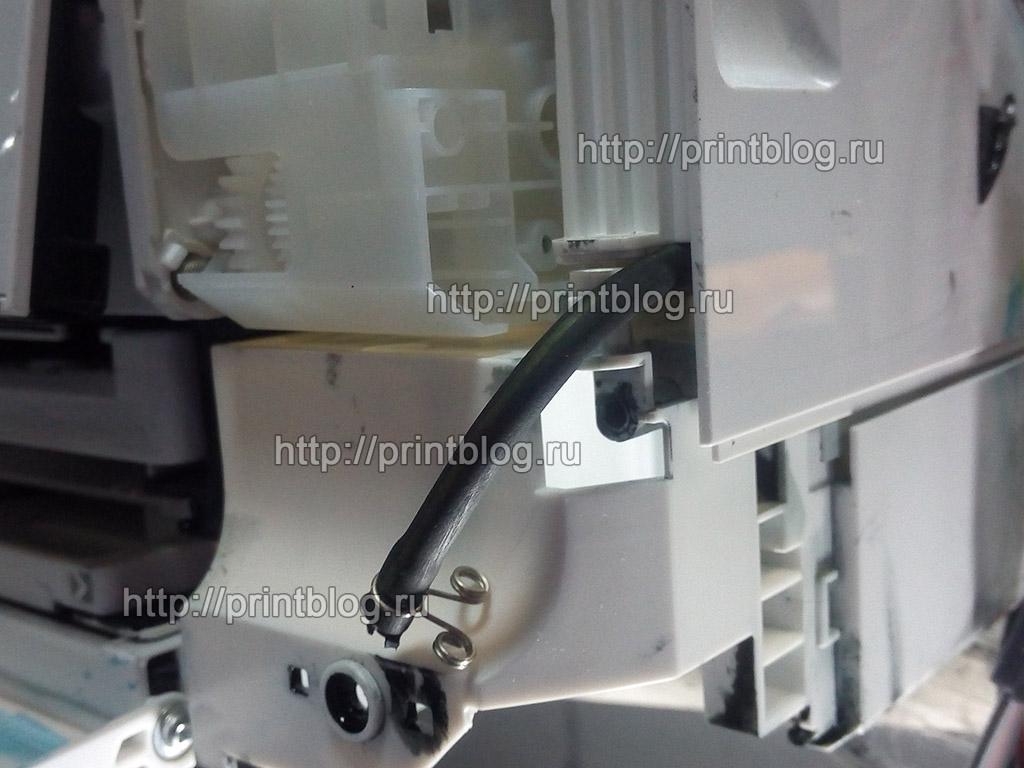 Вывод слива отработанных чернил в Epson XP-600, XP-605