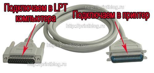 Как подключить принтер LPT