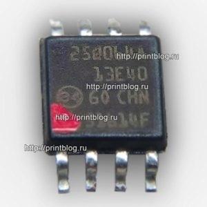Микросхема 25Q064 для Canon Pixma MG2940 с сброшенным счетчиком памперса