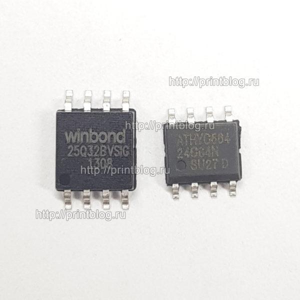 Samsung SCX-3400 и SCX-3405 прошитые фикс прошивкой микросхемы 25Q32 и 24С64