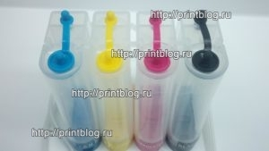 СНПЧ Canon, HP 4 цвета
