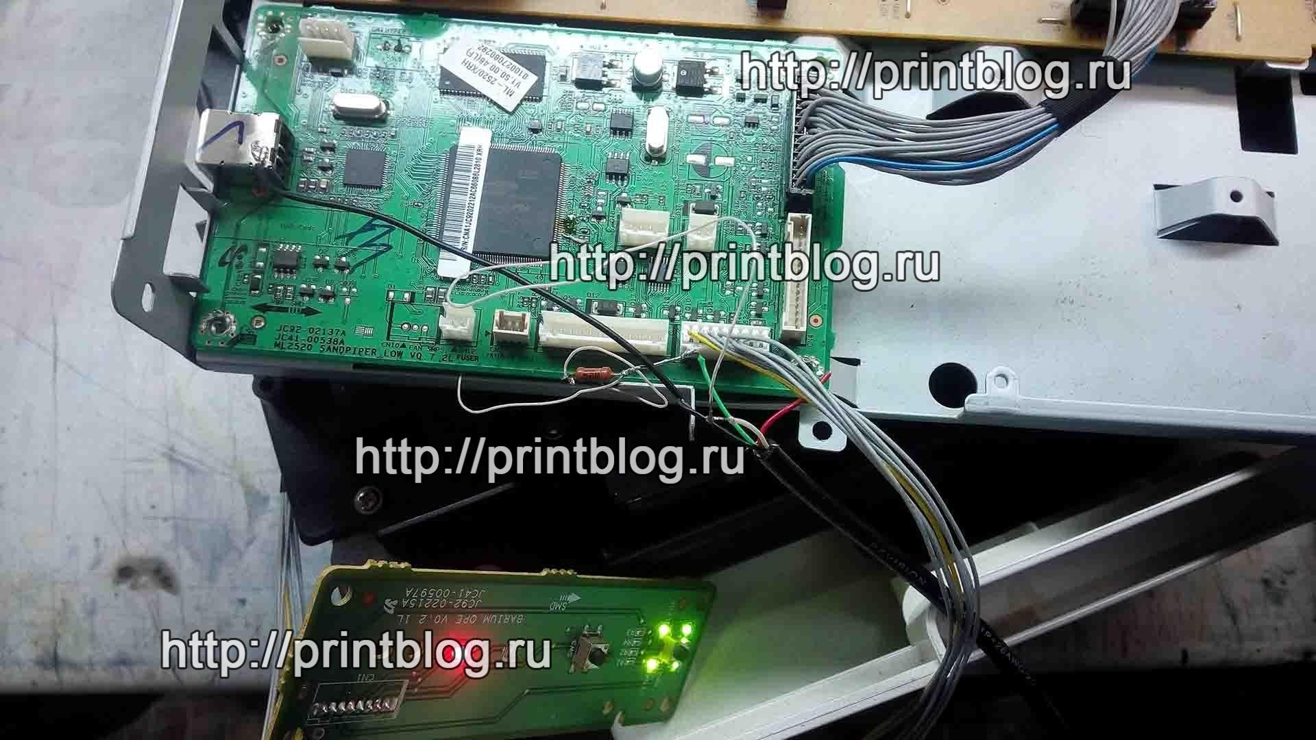 Схема подключения к процессору Jupiter4E Xerox 3155, Samsung ML-2525, ML-2520, ML-1910