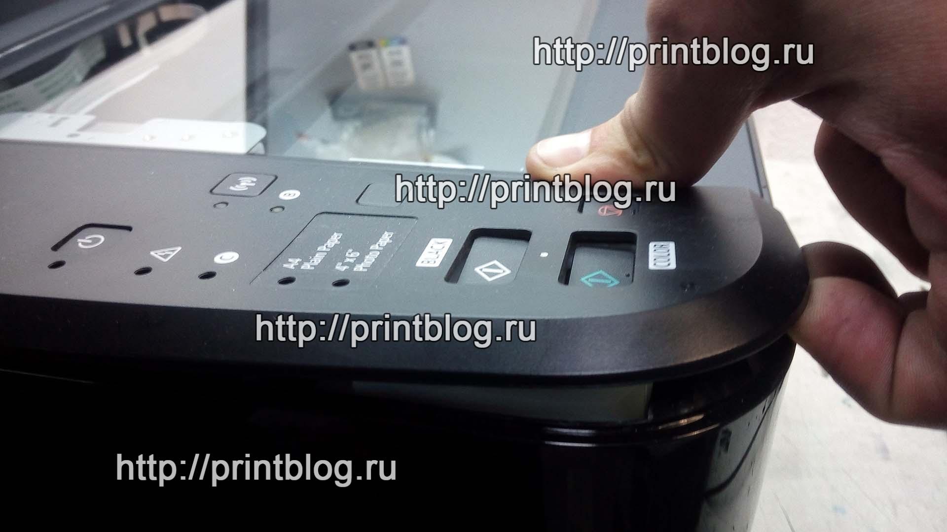 Canon Pixma MG3640 сброс ошибки 5B02