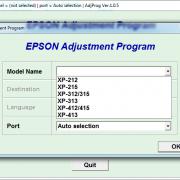 Adjustment program Epson Expression Home XP-215, 212, XP-217, 312, 315, 313, 412, 415, 413 2