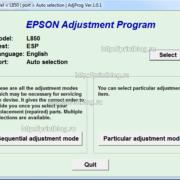 Adjustment program L850