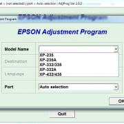 EPSON XP-235, XP-235A, XP-332, XP-335, XP-332A, XP-432, XP-434, XP-435 Adjustment program Ver. 1.0.2 build 6114 сброс памперса