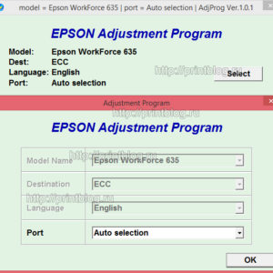 Скачать Adjustment program Epson WF 630, 633, 635