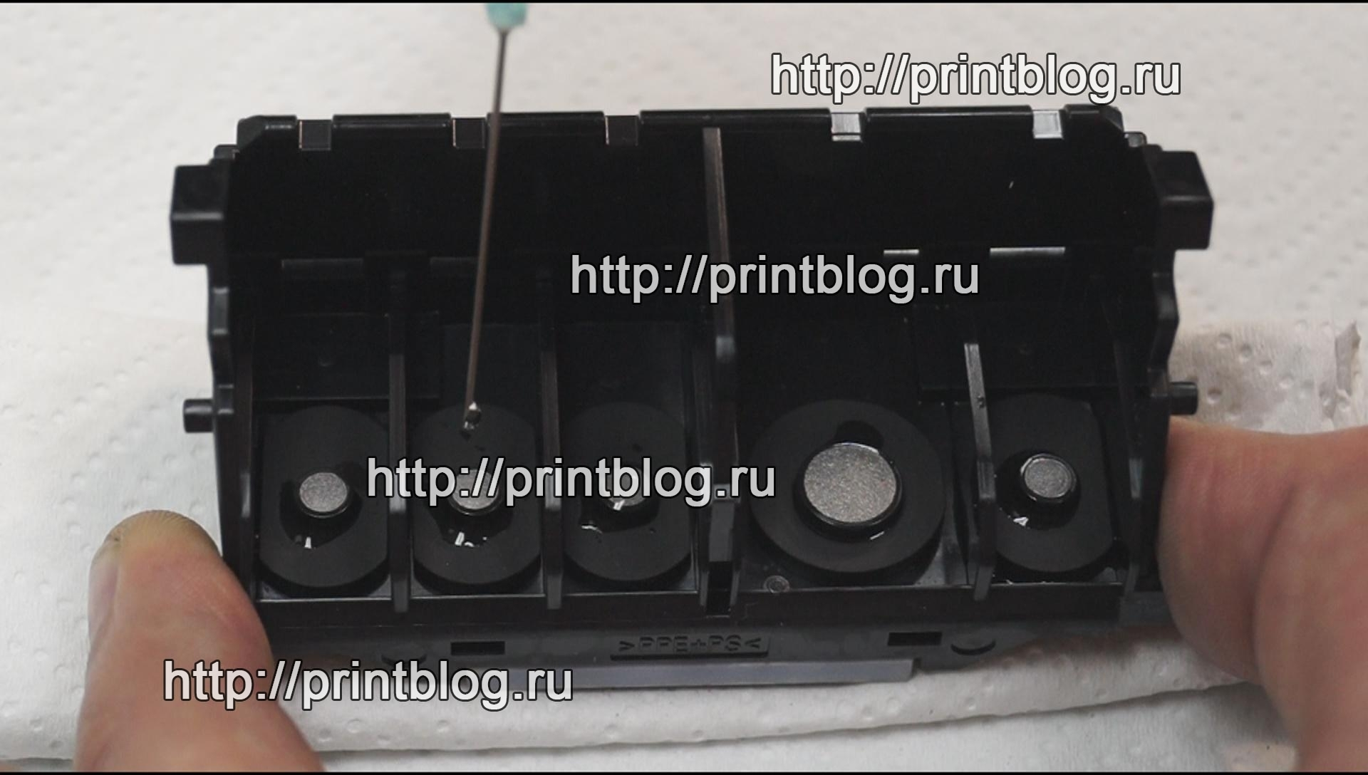 Canon Pixma MG5740 промывка головки и заправка картриджей