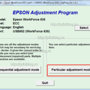 Скачать Adjustment program Epson WF 630, 633, 635