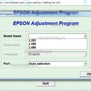 Adjustment program Epson L382, L386, L486