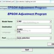 Adjustment program Epson L382, L386, L486_