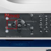 Кнопка Меню Xerox 3225