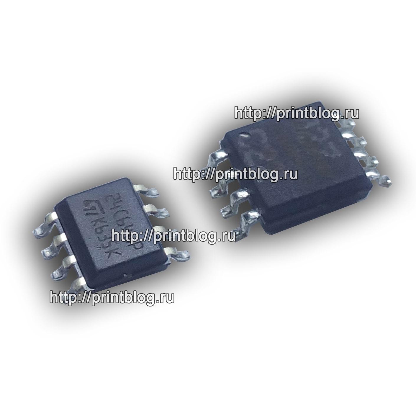 Микросхемы 24С64 и 25Q64 Samsung 2070