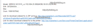 Прошивка для XEROX WorkCentre 3315DN V52.004.26.000 (MCB V2.50.03.26), V52.004.25.000 (MCB V2.50.03.25), V52.003.00.000 (MCB V2.50.02.00), V2.50.00.85