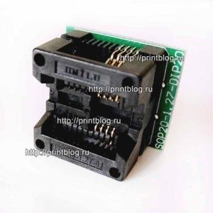 Адаптер (переходник, панелька) с DIP8 на SOP8 (SOIC8)