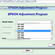 Adjustment program Epson Expression Home XP-342, XP-343, XP-345, XP-243, XP-245, XP-247, XP-442 (EURO)