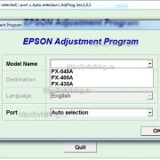 Adjustment program Epson PX-045A, PX-405A