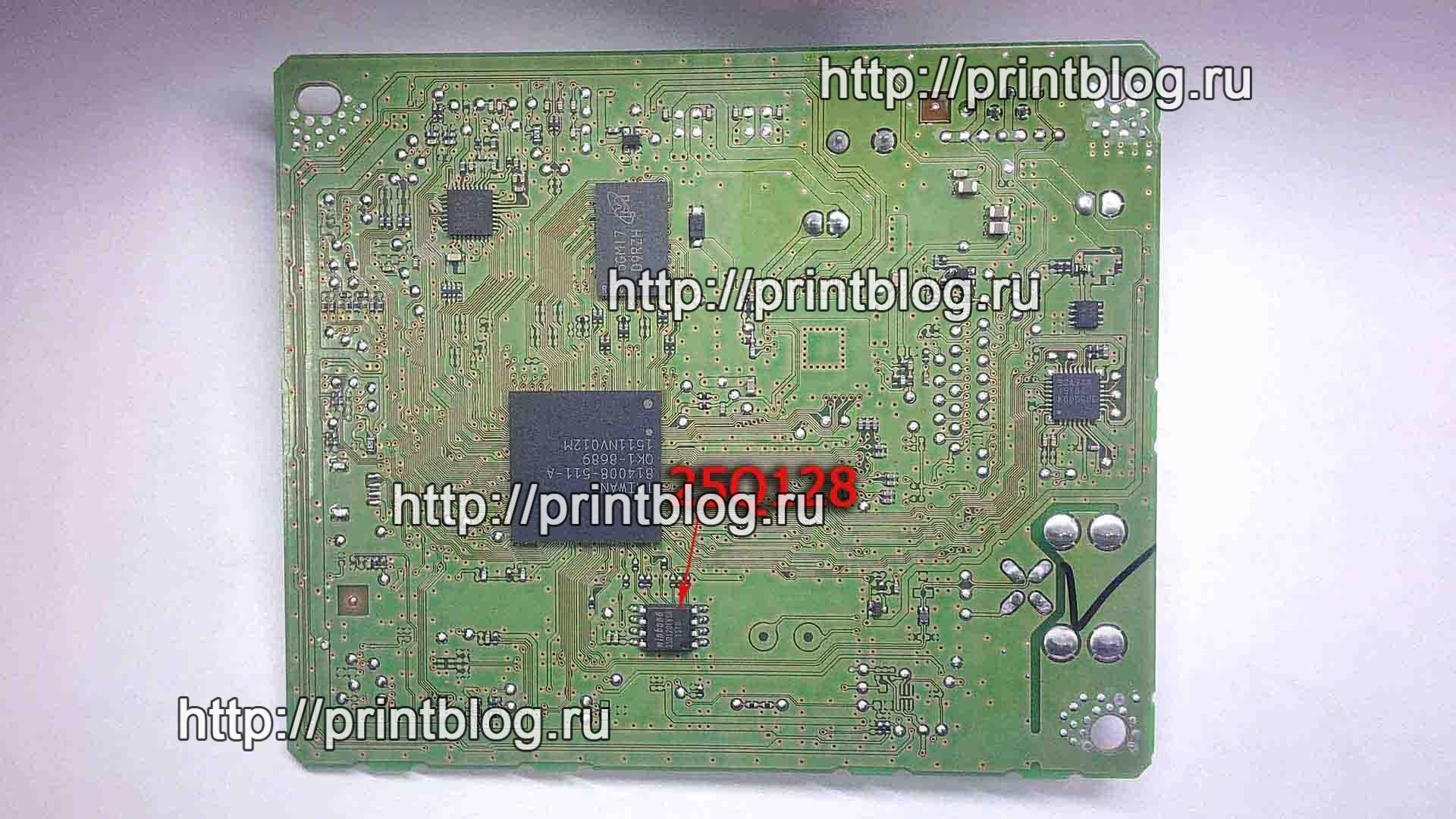 Canon PIXMA MG5740 (MG5700) сброс памперса и ошибки Код поддержки 5B00 (5В00) 25Q16