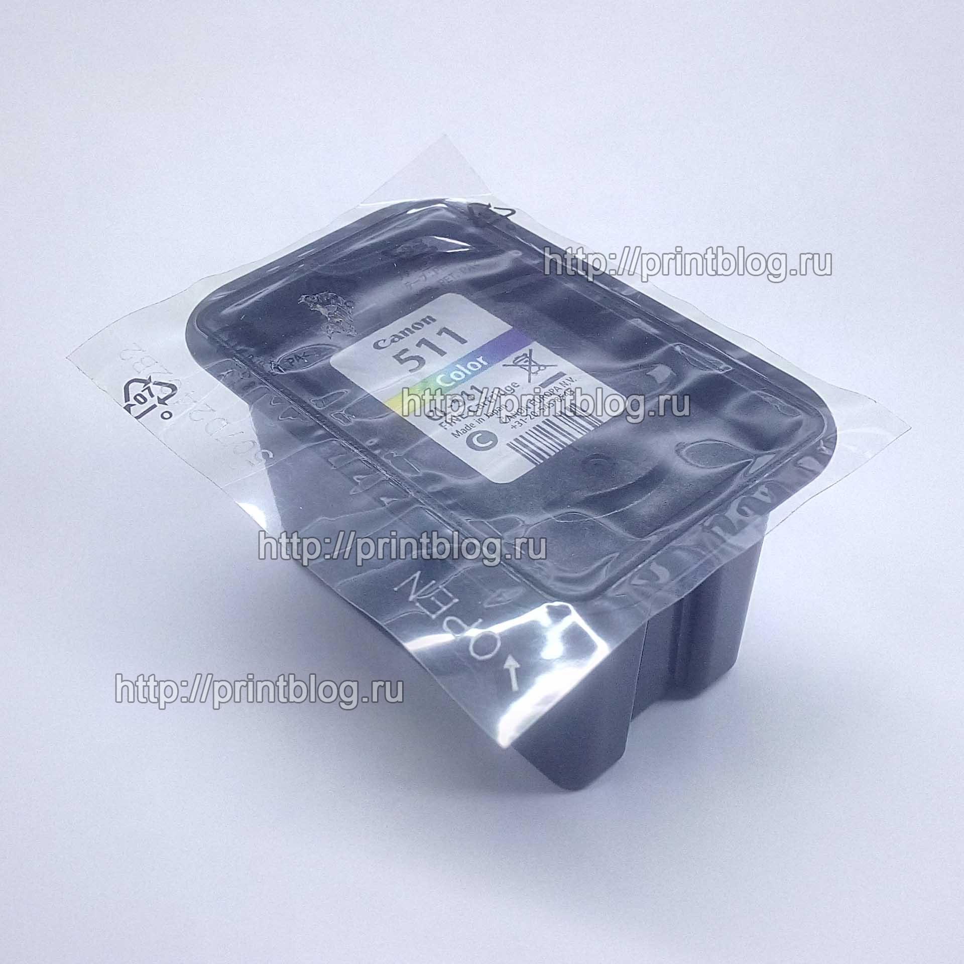 Картридж Canon CL-511 Color для Pixma MP240, 260, 250, 270, 280, 490, 495, MX320 (2972B007)