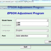 EPSON L455, L456 Adjustment program Ver. 1.0.2 build 5880 (сброс памперса