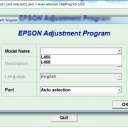 EPSON L455, L456 Adjustment program Ver. 1.0.2 build 5880 (сброс памперса