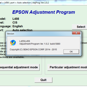 EPSON L455, L456 Adjustment program Ver. 1.0.2 build 5880 (сброс памперса)