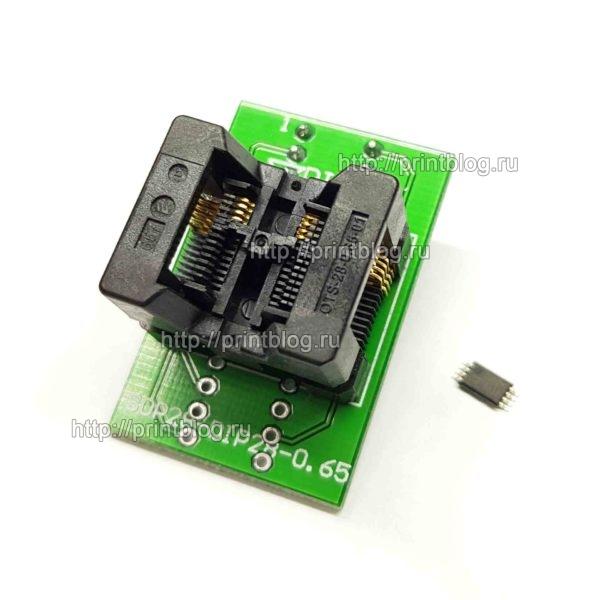 Адаптер (переходник, панелька) с TSSOP8, SSOP8, в DIP8