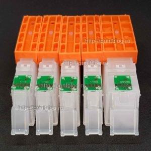 Картриджи (ПЗК, ДЗК) для Canon Pixma MG6840, MG5740, TS5040, TS6040 (PGI-470, CLI-471) комплект из 5 шт, с авто-чипами