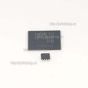 Микросхемы K9F1G08U0E и 24C256 для Samsung CLX-3305W, C460W прошитые фикс прошивкой
