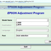 EPSON L3050, L3070 Adjustment program Ver. 1.0.3 build 6528 сброс памперса)