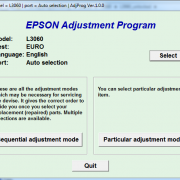 EPSON L3060 Adjustment program Ver. 1.0.0 build 6529 (сброс памперса))