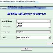 EPSON L4150, L4160 Adjustment program Ver. 1.0.1 сброс памперса
