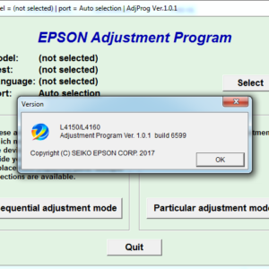 EPSON L4150, L4160 Adjustment program Ver. 1.0.1 (сброс памперса)