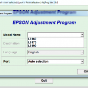 EPSON L6160, L6170, L6190 Adjustment program Ver. 1.0.1 build 6599 (сброс памперса