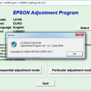 EPSON L6160, L6170, L6190 Adjustment program Ver. 1.0.1 build 6599 (сброс памперса)