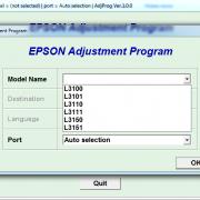 EPSON L3100, L3101, L3110, L3111, L3150, L3151 Adjustment program Ver. 1.0.0 build 6780 (сброс памперса