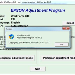 Adjustment program Epson WF 840, 845