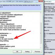 Adjustment program Epson SX535WD, Office BX535WD (Сброс памперса) _2