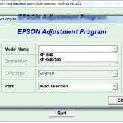 Adjustment program Epson XP-540, XP-640, XP-645 (Сброс памперса) _11