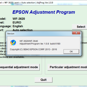 Adjustment program Epson WF-3620, WF-3640 (Сброс только Platen pad counter)